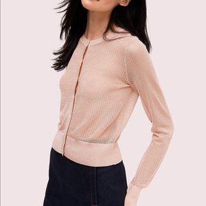 NWT Kate Spade lurex cardigan